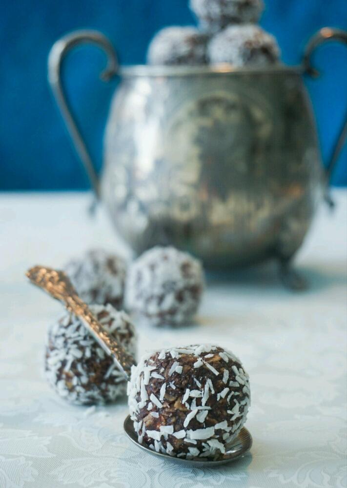 Chokladbollar med brynt smör
