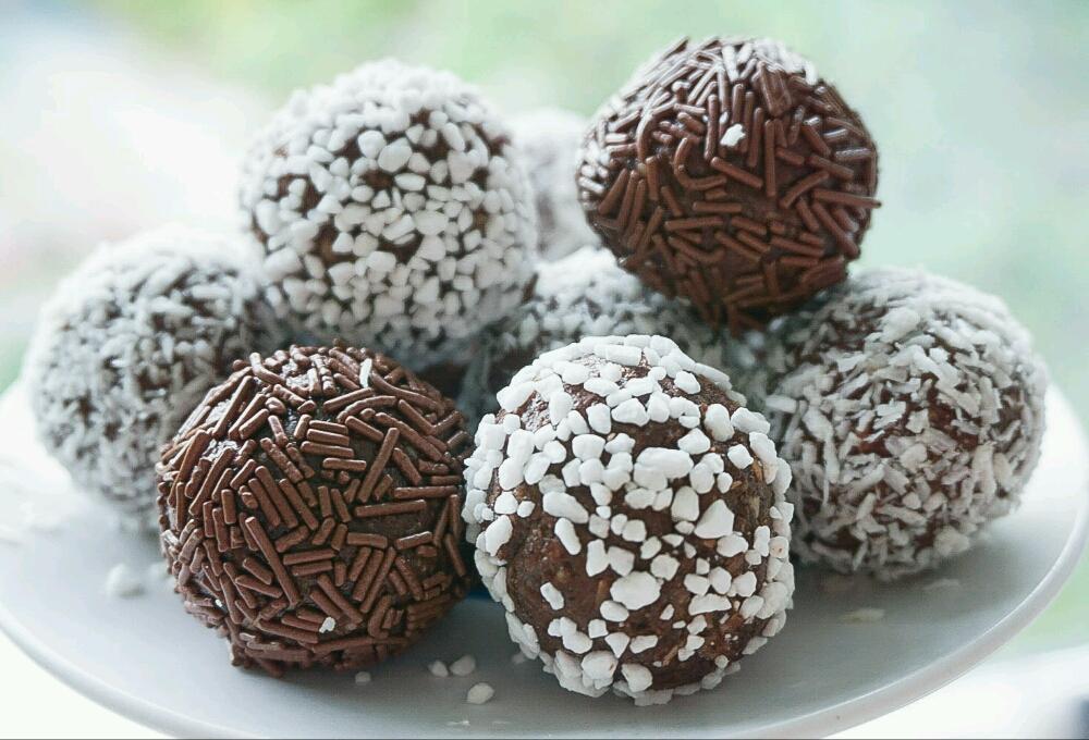 Chokladbollar med mjölkchoklad