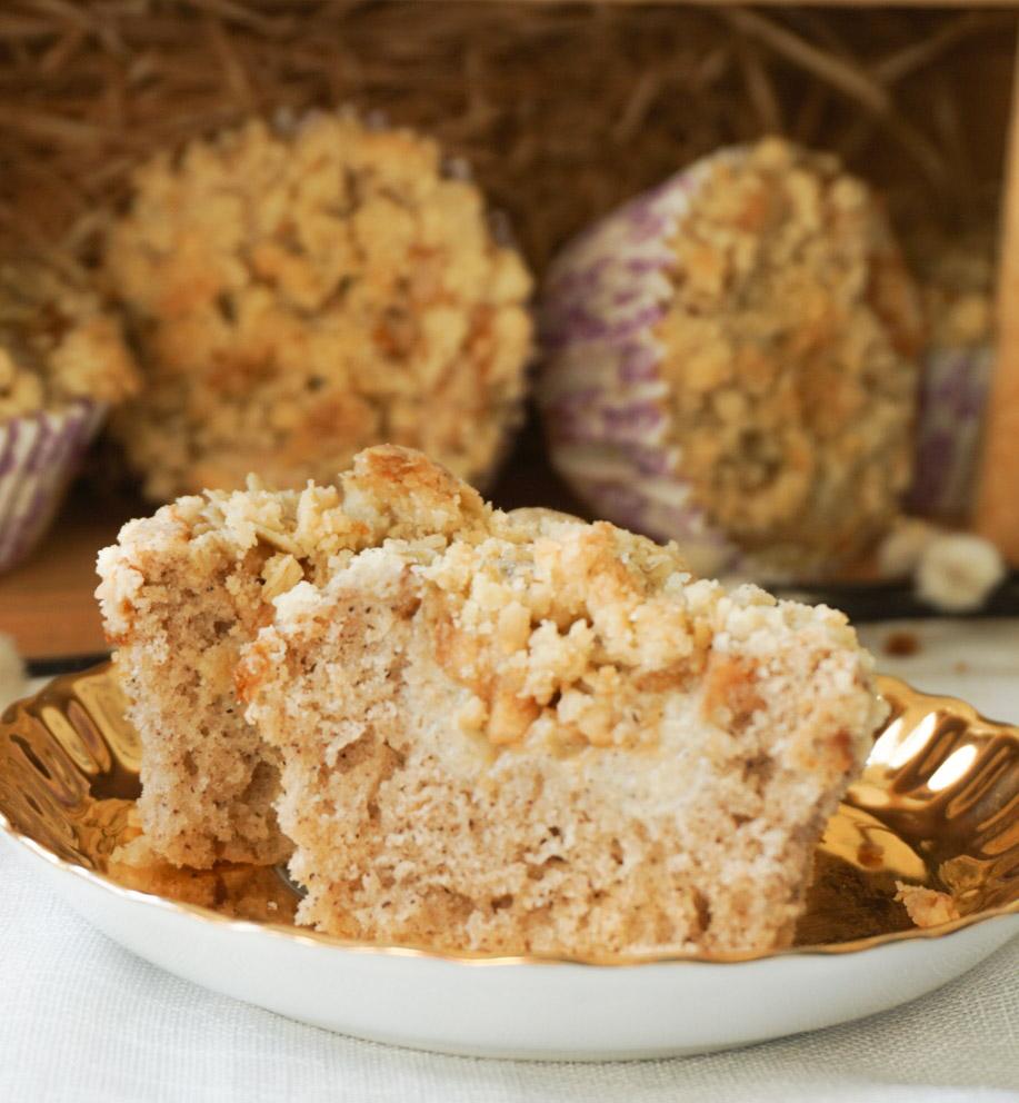 Applepie crumbletop muffins äppelpajsmuffins