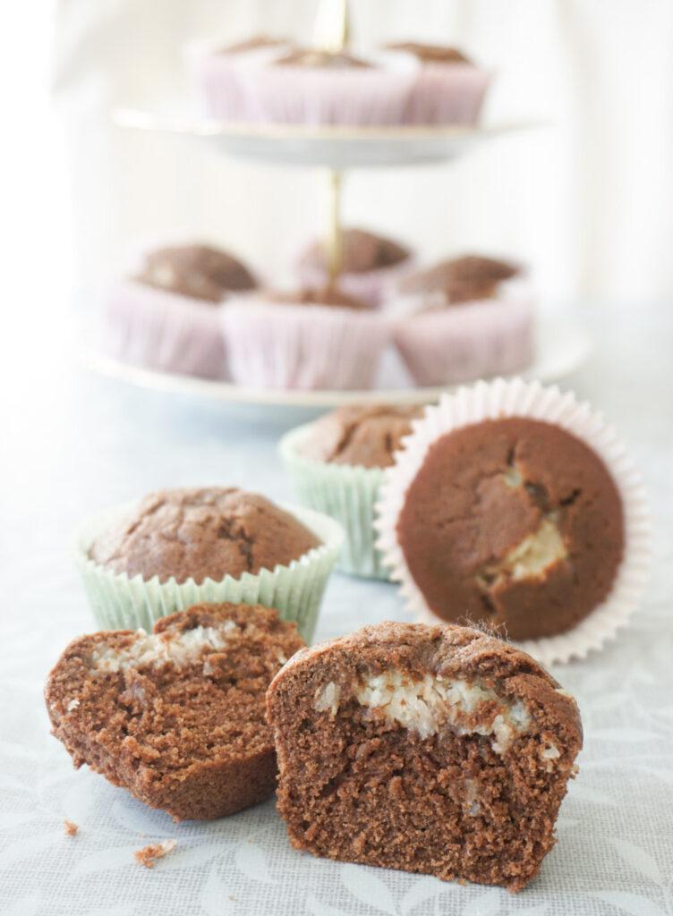 Bountymuffins choklad kokos