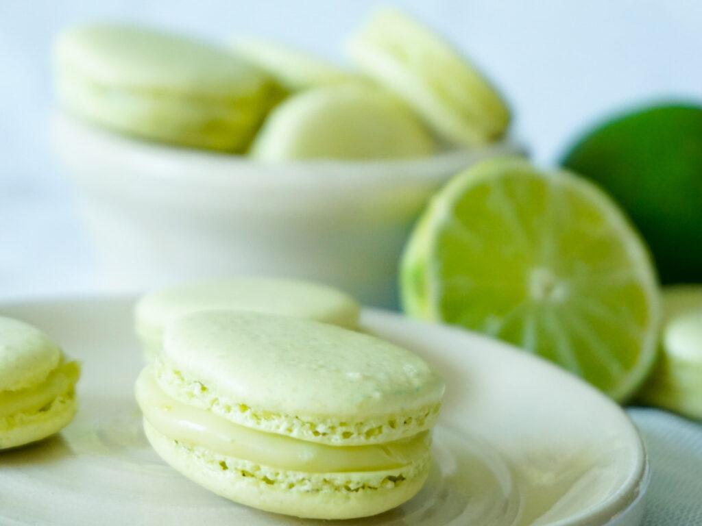 Macarons med lime